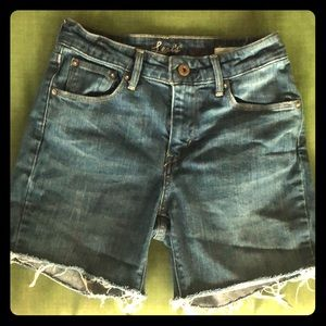 Levi's High Rise Demi Curve Cut Off Jean Shorts